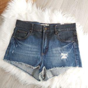 Garage Retro High Waisted Denim Shorts